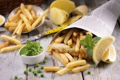 stekt japansk tempura för chiper fisk Fotografering för Bildbyråer