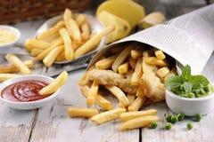 stekt japansk tempura för chiper fisk Arkivfoton