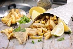 stekt japansk tempura för chiper fisk Arkivbilder