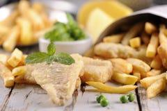 stekt japansk tempura för chiper fisk Arkivfoto