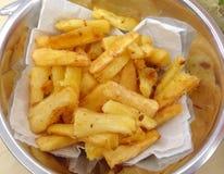 Stekt kassava Royaltyfri Foto