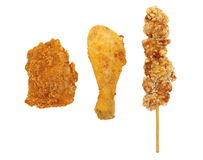 Stekt kyckling Arkivbild