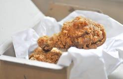 Stekt kyckling eller djup stekt kyckling Royaltyfri Fotografi