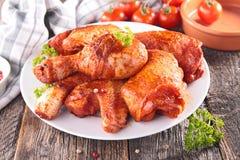 Stekt kyckling med kryddan Royaltyfri Fotografi