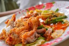 Stekt kyckling Sukiyaki Arkivfoto