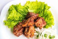 stekt meat Fotografering för Bildbyråer
