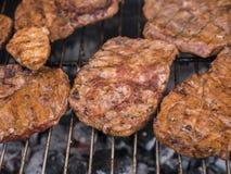 stekt meat Royaltyfria Foton