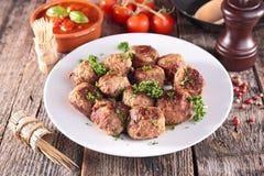 stekt meatball Royaltyfria Bilder