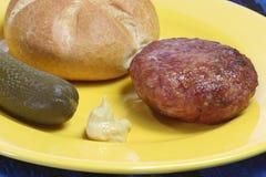 stekt meatball Arkivfoton