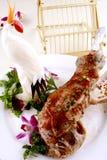 stekt mutton för porslin läcker mat Arkivfoto