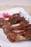 stekt mutton för porslin mat arkivbilder