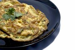 Stekt omelett arkivfoto