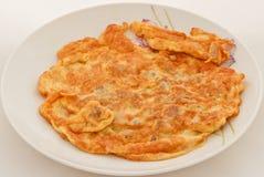 Stekt omlet arkivfoto