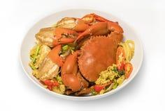 stekt pulver för krabba curry Arkivfoton