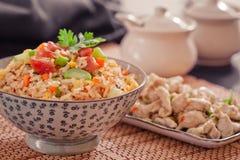 stekt rice Royaltyfri Fotografi