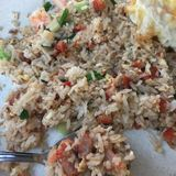 stekt rice Fotografering för Bildbyråer