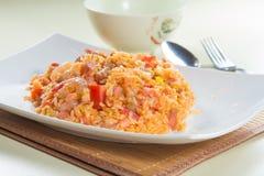 stekt rice Royaltyfri Foto