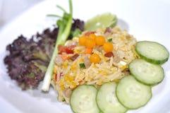 Stekt rice med pork Royaltyfri Bild