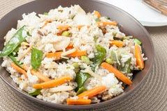 stekt ricegrönsak royaltyfria bilder