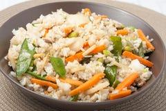 stekt ricegrönsak royaltyfri fotografi