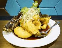 Stekt snapperfisk Fotografering för Bildbyråer