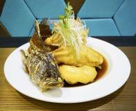Stekt snapperfisk Royaltyfri Foto