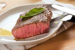 Stekt steak Arkivfoto