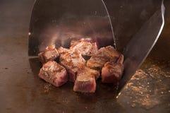 stekt steak Fotografering för Bildbyråer