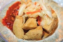 Stekt stinky tofu Royaltyfri Fotografi