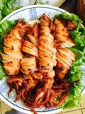 Stekt tioarmad bläckfisk Royaltyfri Bild