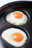 stekte ägg Arkivbild