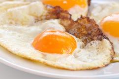 stekte ägg Fotografering för Bildbyråer