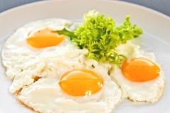 stekte ägg Arkivbilder