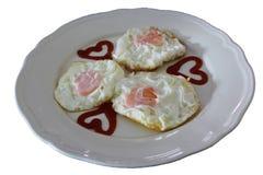 stekte ägg Royaltyfria Bilder