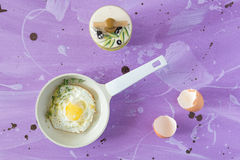 stekte ägg Arkivfoto