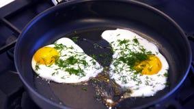 stekte ägg arkivfilmer