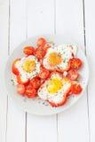 Stekte ägg, bästa sikt Arkivfoton