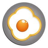 Stekte ägg med gul paprika ägg stekt peppar Arkivfoton