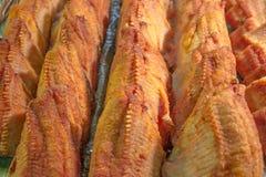 Stekte fiskstycken Arkivbilder