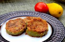 stekte gröna tomater Arkivfoto