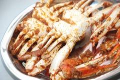 stekte krabbor Royaltyfri Foto