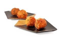 Stekte meatballs Royaltyfria Bilder