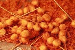 Stekte meatballs Arkivfoton