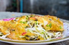 stekte ostroner för smet ägg Royaltyfri Fotografi