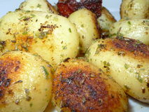 Stekte potatisar fotografering för bildbyråer