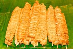 stekte potatisar Arkivbild