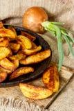 Stekte potatisar Arkivbilder