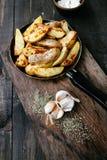 stekte potatisar Arkivfoton