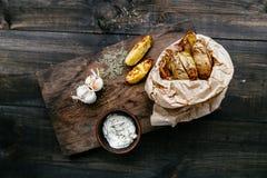 stekte potatisar Arkivfoto