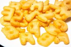 Stekte potatisar, abc Royaltyfri Foto